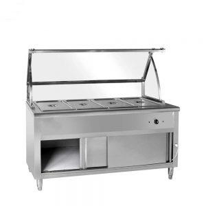 کانتر گرم همراه با پیشخوان شیشه ای صنعتی